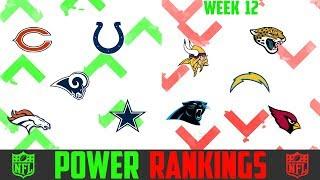 NFL Week 12 Power Rankings 2018 - WEEK 12 NFL POWER RANKINGS 2018 (UPDATED WEEKLY)