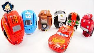 Disney Cars Toys Lightning McQueen & Mater Transformation EGG STARS Stop motion movie for Kids