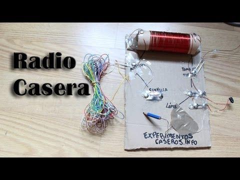 Cómo hacer una radio casera (sin pilas) (Experimentos Caseros)