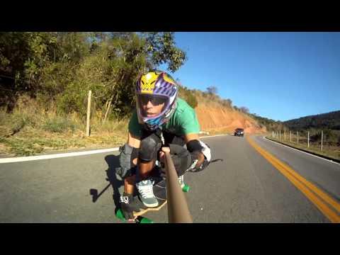 Aimorés - MG - Skate Longboard Downhill Speed - drop solo - Alexandro Frexande - gopro