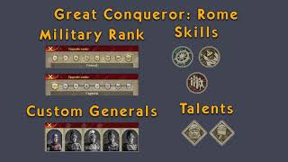 Great Conqueror : Rome  General rank and skills
