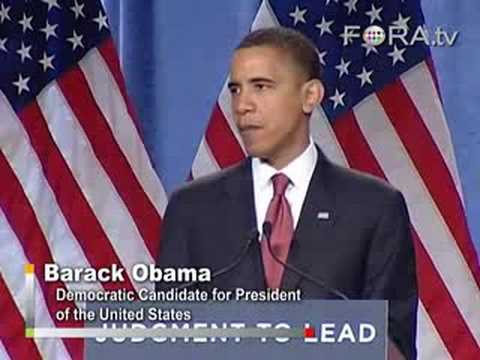 Barack Obama on Afghanistan and Pakistan