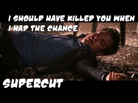 "Supercut of movie characters saying ""I should have killed you when I had the chance."""