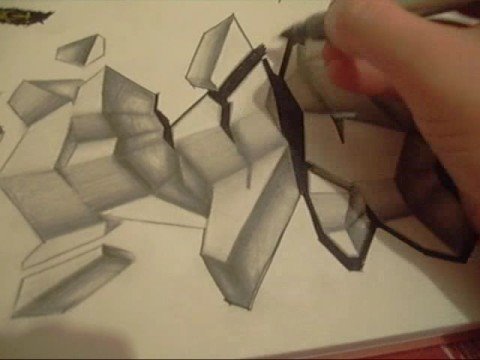 Graffiti Art Sketches 3d Graffiti Art 3d Drawing