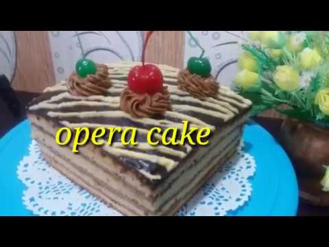 OPERA CAKE LEMBUT DAN NYOKLAT BANGET