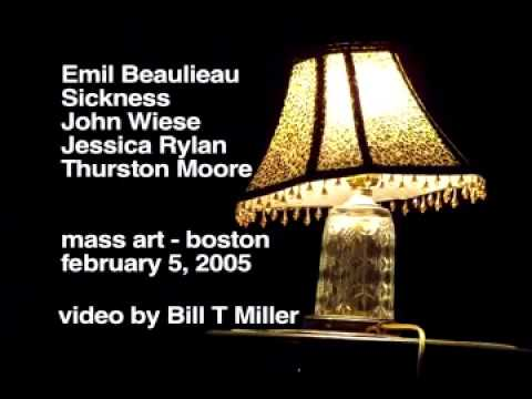 MassArt NOISE -Thurston Moore-Jessica Rylan-Emil Beaulieau-John Wiese-Sickness- Video by BTM