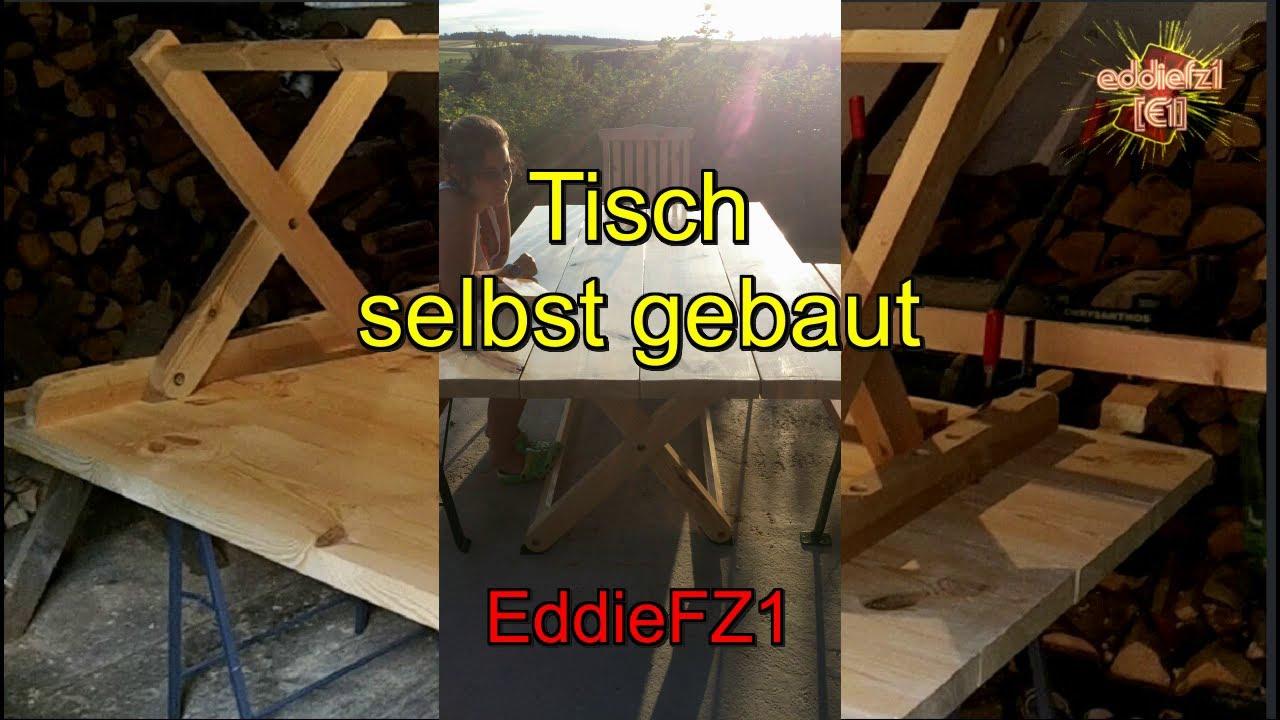 Gartentisch Holz Selber Bauen Anleitung ~ Gartentisch selbst bauen  YouTube