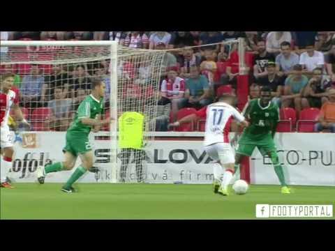 Slavia Praha 2-0 Levadia Tallinn | 2016-17 UEFA Europa League | Sestřih / Highlights
