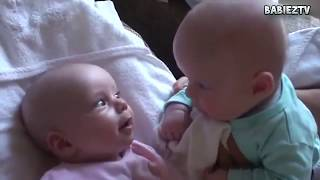 Funny Babies Talking to Each Other Compilation 2015 HD VIDEO