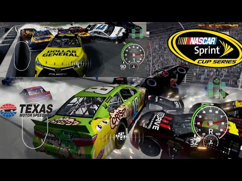 NASCAR'15 The Game: Texas Motor Speedway Night Best Extreme Longer Crash Compilation
