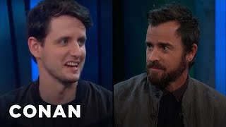 Justin Theroux & Zach Woods Had Never Heard Of LEGO Ninjago - CONAN on TBS