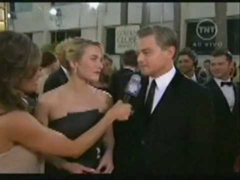Kate Winslet and Leo Dicaprio interview Golden Globes