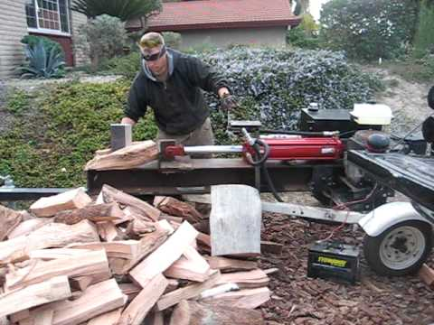 Home made log splitter