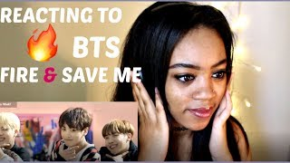 Download Lagu BTS FIRE & SAVE ME REACTION Gratis STAFABAND