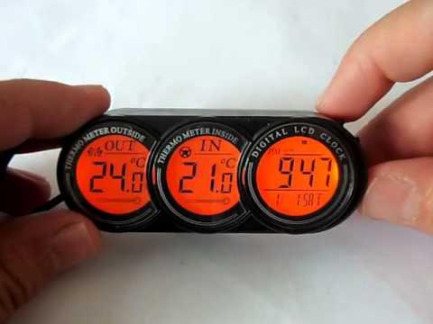 Digital Car Thermometer Internal External Temperature Youtube