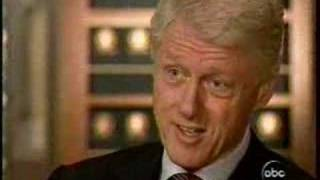 """President Clinton to Peter Jennings """"Don't go there Peter!"""""""