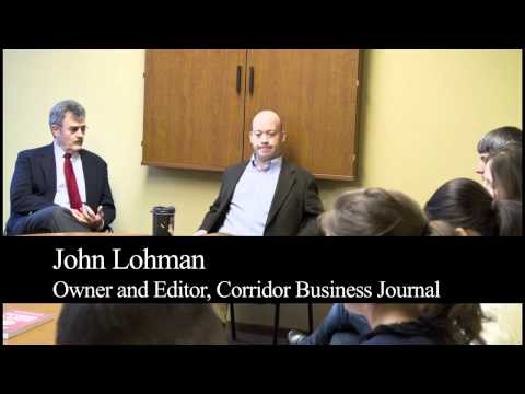 Screenshot of Media Management Field Trip- Corridor Business Journal Youtube video