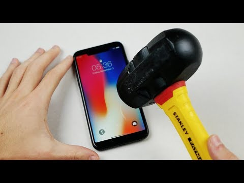 iPhone X Hammer & Knife Scratch Test!