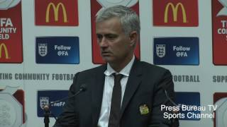 Jose Mourinho reaction Manchester United vs Leicester Charity Shield 2016