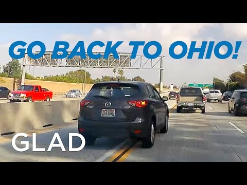 Erratic Ohio Driver Gets Served by Another Erratic Driver - ELW 6066