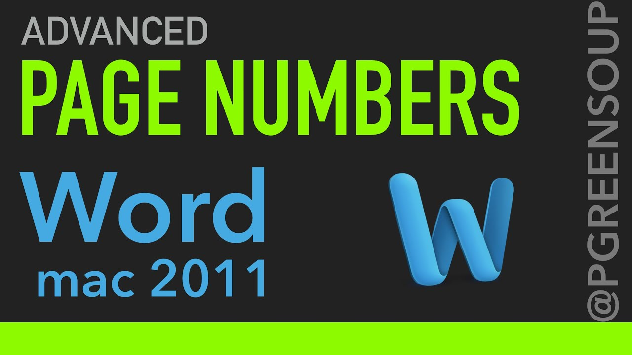 Adding Page Numbers - Microsoft Word 2010 and 2013 for