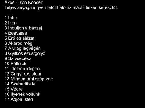 Ákos Ikon Koncert LETÖLTÖLINK A VIDEO ALATT