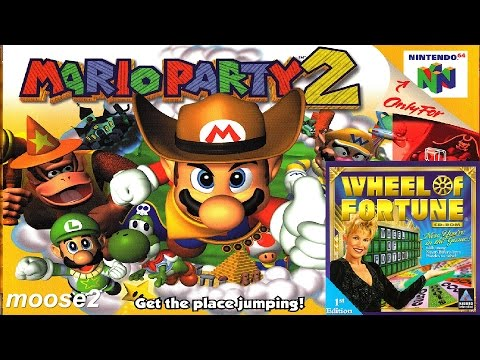 Mario Party 2 / Wheel of Fortune - brutalmoose stream archive