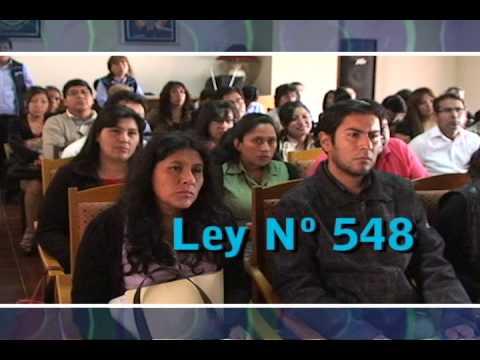 Socialización de la Ley 548 SEDEGES