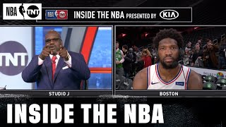Joel Embiid Responds to Shaq and Chuck's Challenge | NBA on TNT
