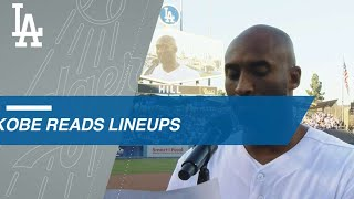 Kobe announces Dodgers' WS Game 4 starting lineup