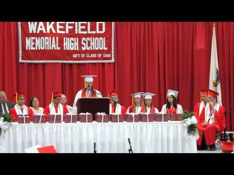 Wakefield Memorial High School - Graduation - Valedictory speech