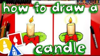 How To Draw A Christmas Candle