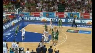 GREECE-SLOVENIA  57-56  GREECE HIGHLIGHTS  BRONZE MEDAL MATCH