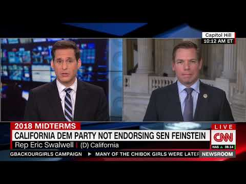 Swalwell doesn't agree with California delegates not endorsing Feinstein