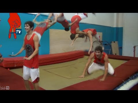 Austin Mahone - Austin Does His First Backflip - Mahomie Madness Ep 19 video