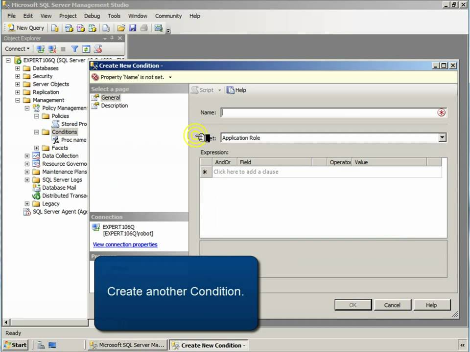 Sql Server 2008 Policies And Facets Tutorial Youtube