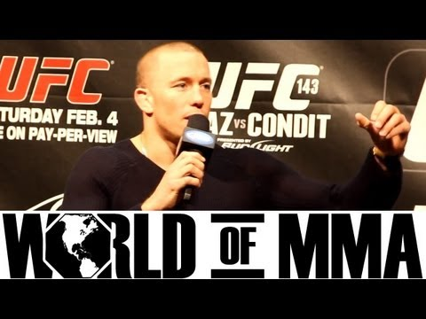 Georges St. Pierre (GSP) Talks About Fighting Anderson Silva at a Catchweight