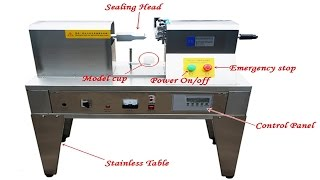 Supersonic soft tubes sealing machine ultrasonic cream lotion tube sealer equipment semi automatic