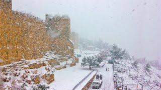 Аномальные снегопады в Иерусалиме. Стихия парализовала город