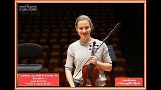 OFUNAM. Entrevista. Dana Zemtsov. Viola. Sobre el Concierto de Bartók