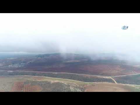 Çatışmaların Sürdüğü Bursiye Dağı Havadan Böyle Görüntülendi