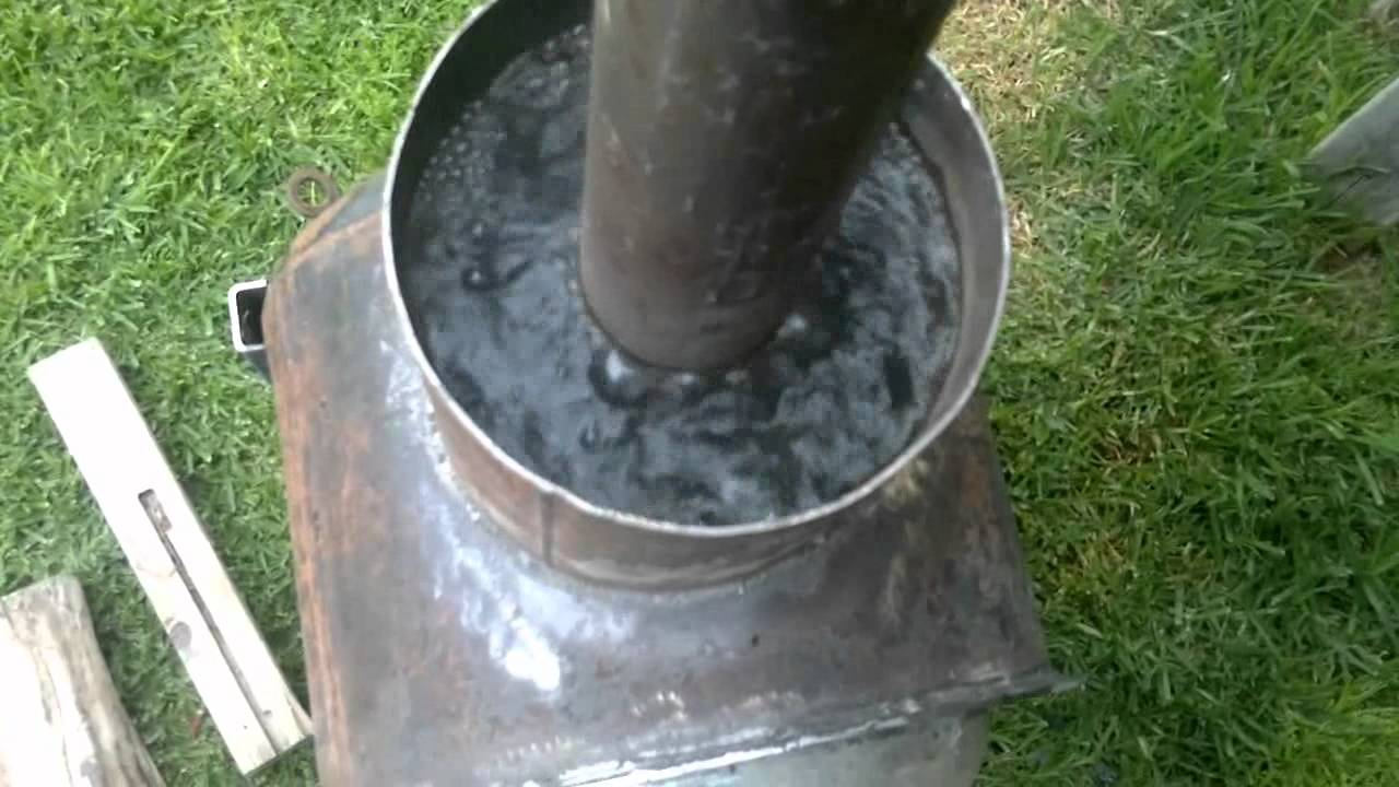 Wood fired spa heater youtube for Garden pool heater