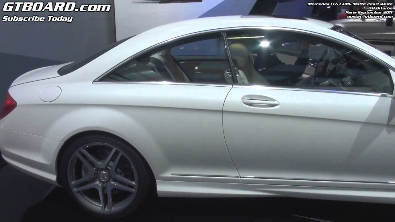 1080p Mercedes Cl63 Amg Biturbo Matte White Pearl Youtube