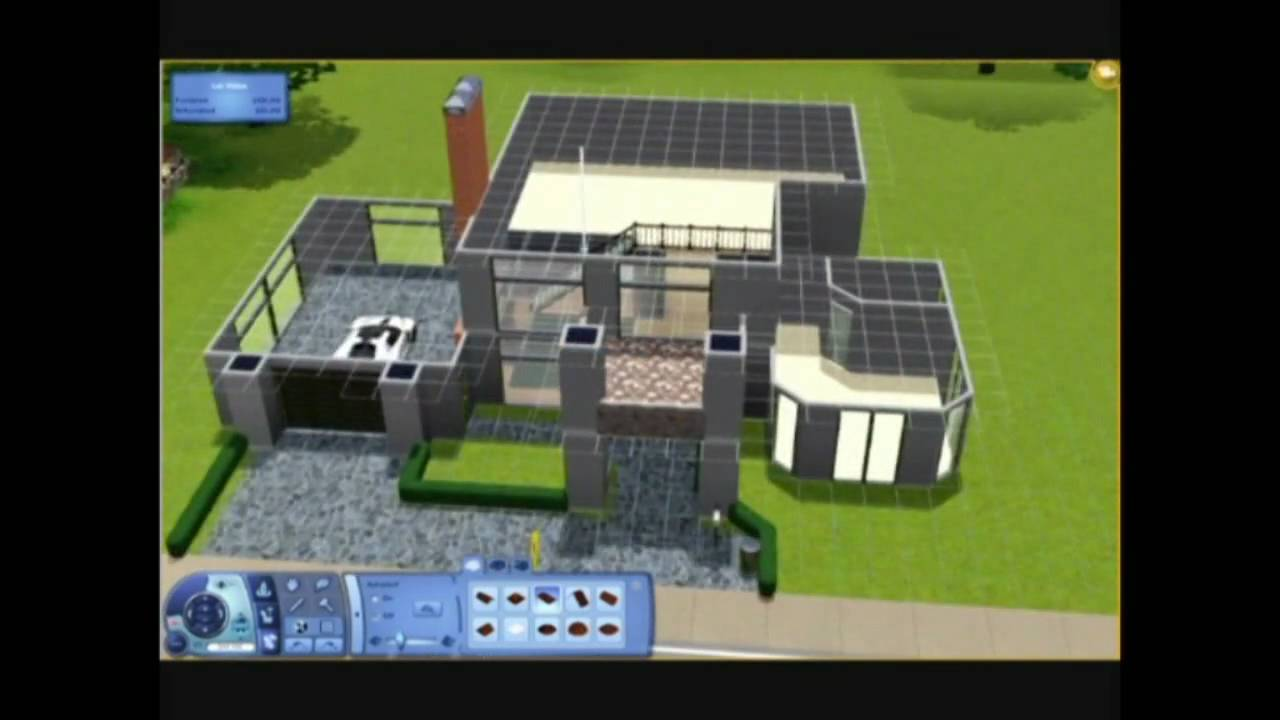 The sims 3 building a house 1 the spiked cannon part for Minimalist house the sims 3