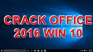 Crack office 2016 win 10