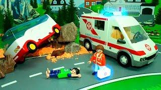 Мультики Обвал в горах Скорая помощь Спасательная машина Для детей. Мультфильмы Мультики про машинки