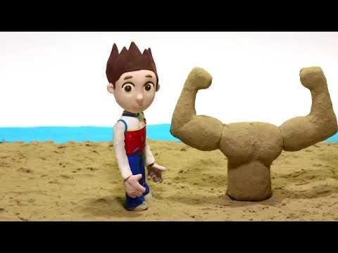 Paw Patrol clay cartoon 💕Superhero Play Doh Stop motion cartoons
