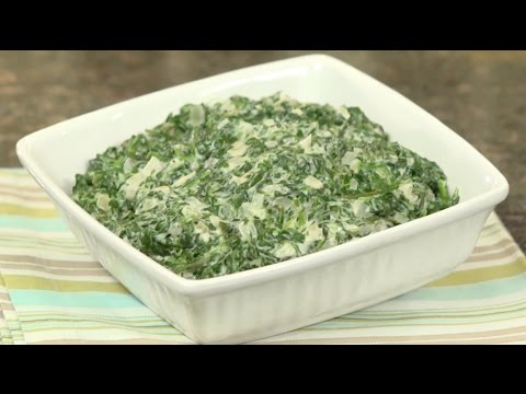 Creamless creamed spinach