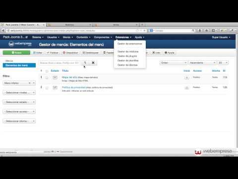 Pack Webempresa 3  Meetgavern - Configuración de módulos principales