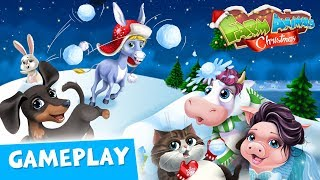 Xmas Makeovers & Holiday Food! Farm Animals Christmas 2 Gameplay   TutoTOONS Cartoons & Kids Games